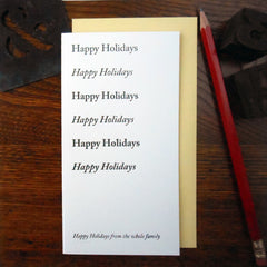 happy holiday typefaces