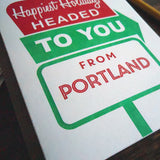 holiday portland roadside sign