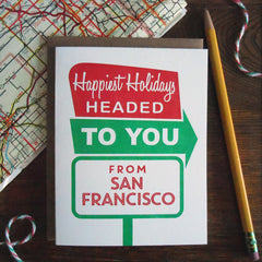 holiday san fran roadside sign