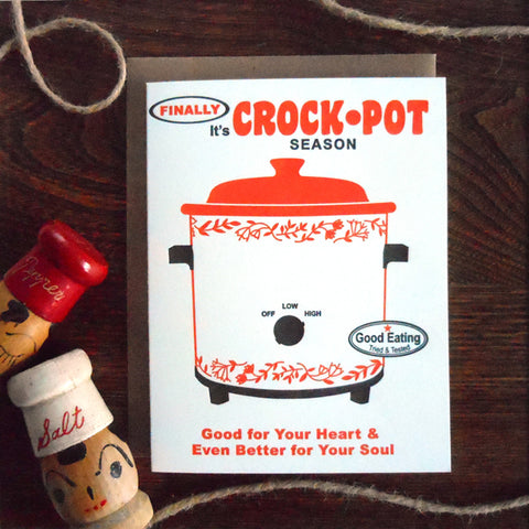 finally it's crockpot season