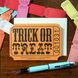 trick or treat ticket