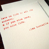 buscaglia love quote