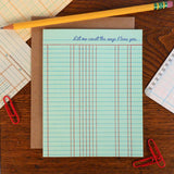 love ledger paper