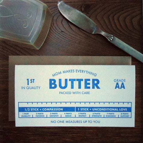 mom makes everything butter
