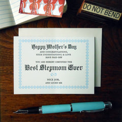 best stepmom ever certificate