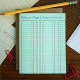 new year ledger paper