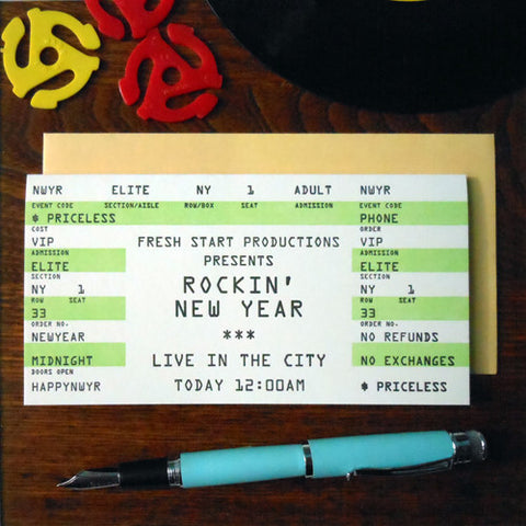 new year rock ticket