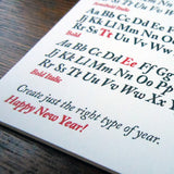 new year typefaces
