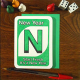 new year uno card
