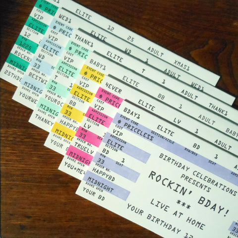 assorted rock ticket