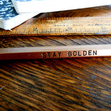 stay golden pencil