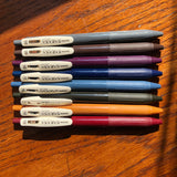 Sarasa clip gel pen - vintage colors
