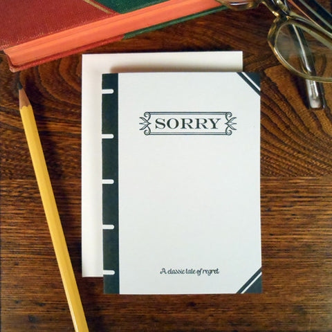 sorry book cover