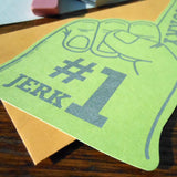 #1 jerk foam finger