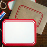 red label flat note set