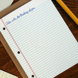 thinking of you notebook paper
