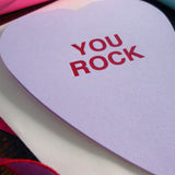 you rock conversation heart