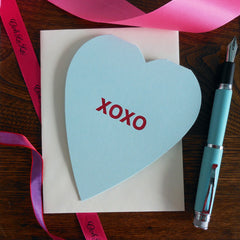 xoxo conversation heart