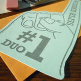 #1 duo foam finger