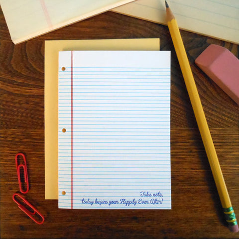 wedding notebook paper