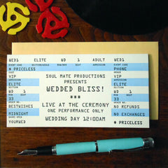wedding rock ticket