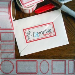 red border label paper tape