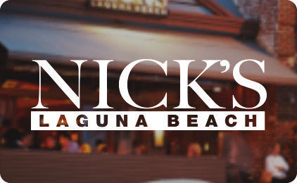 Nick's Laguna Beach Gift Card