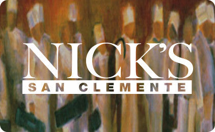 Nick's San Clemente Gift Card