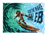 Cause The Wave: Justin Hampton Art Print - Regular Edition