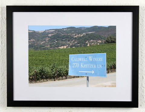 'Caldwell Winery' - Original Wine Art - California Vineyard Photography, framed