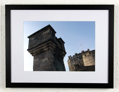 'Castle Wall' - Original, artistic Edinburgh photography, framed