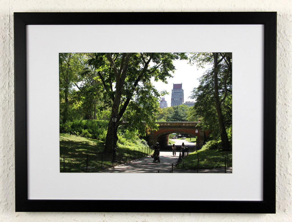 'Central Park bridge' - Original New York City photography, framed