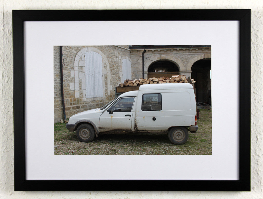 'Chateau Citroen' - Original photography from rural France, framed