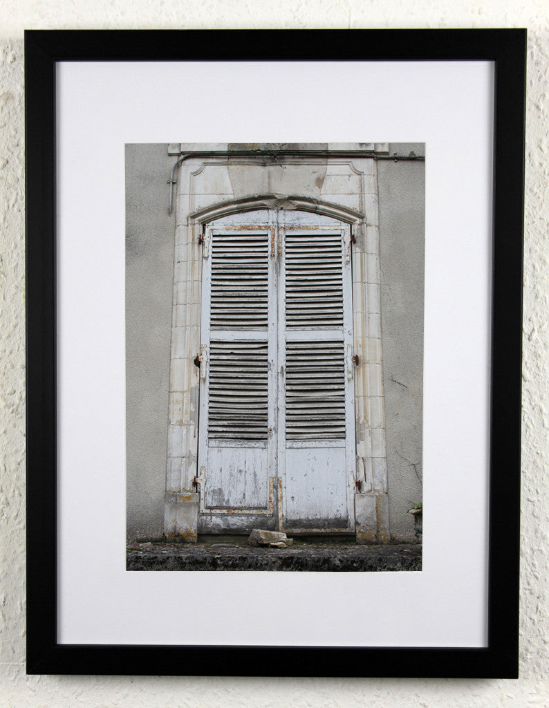 'Chateau shutters' - Original French Chateau photography, framed