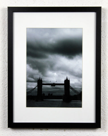'Cloudy Bridge' - Tower Bridge London, original photography, framed and mounted