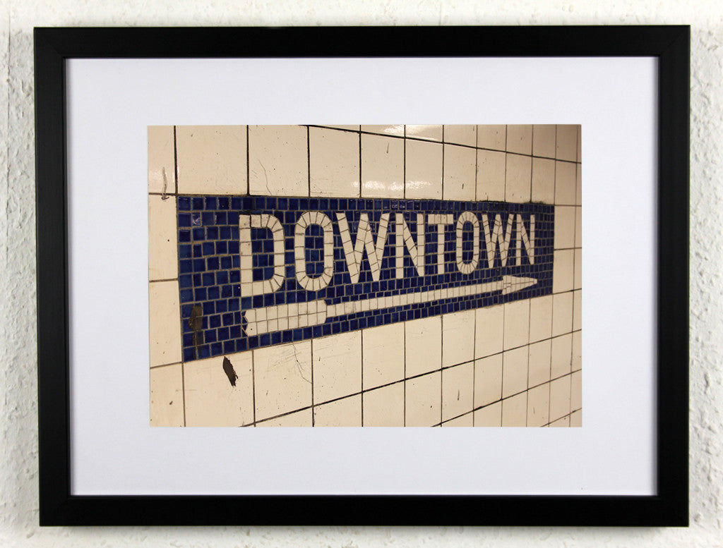 'DOWNTOWN 2' - Original New York City subway photography, framed