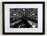 'Descent' - London Underground original photography, framed and mounted