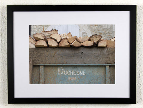 'Duchesne Kindling' - Original photography from rural France, framed