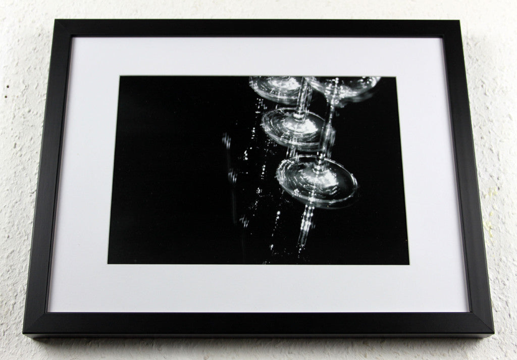 'Glass Reflect 8' - Original wine glass art - Photography, Framed and mounted
