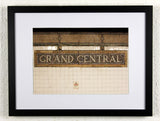 'GRAND CENTRAL' - Original New York City subway photography, framed
