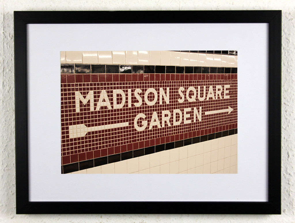 'MADISON SQUARE GARDEN' - Original New York City subway photography, framed