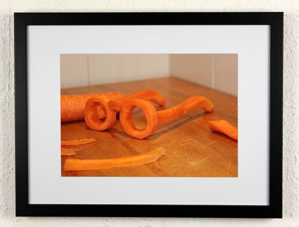 'Night Vision' - Carrot glasses, Original artistic creation - framed photography