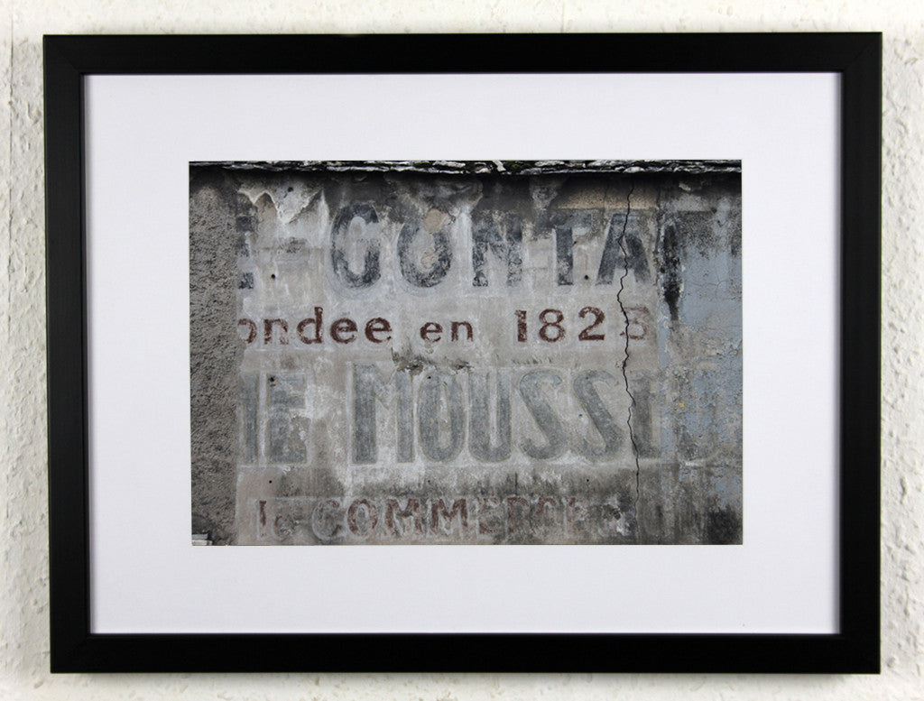 'Nuits Ad' - Original French setting photography, framed
