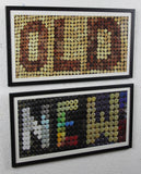 'OLD vs NEW' - Original wine art, using 740 wine corks & 351 screw caps, Framed