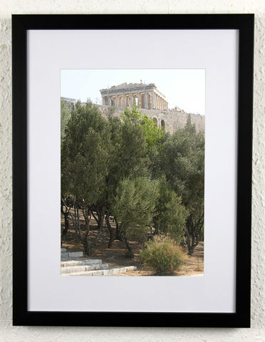 'On the Hill' - Original, artistic Athens photography, framed