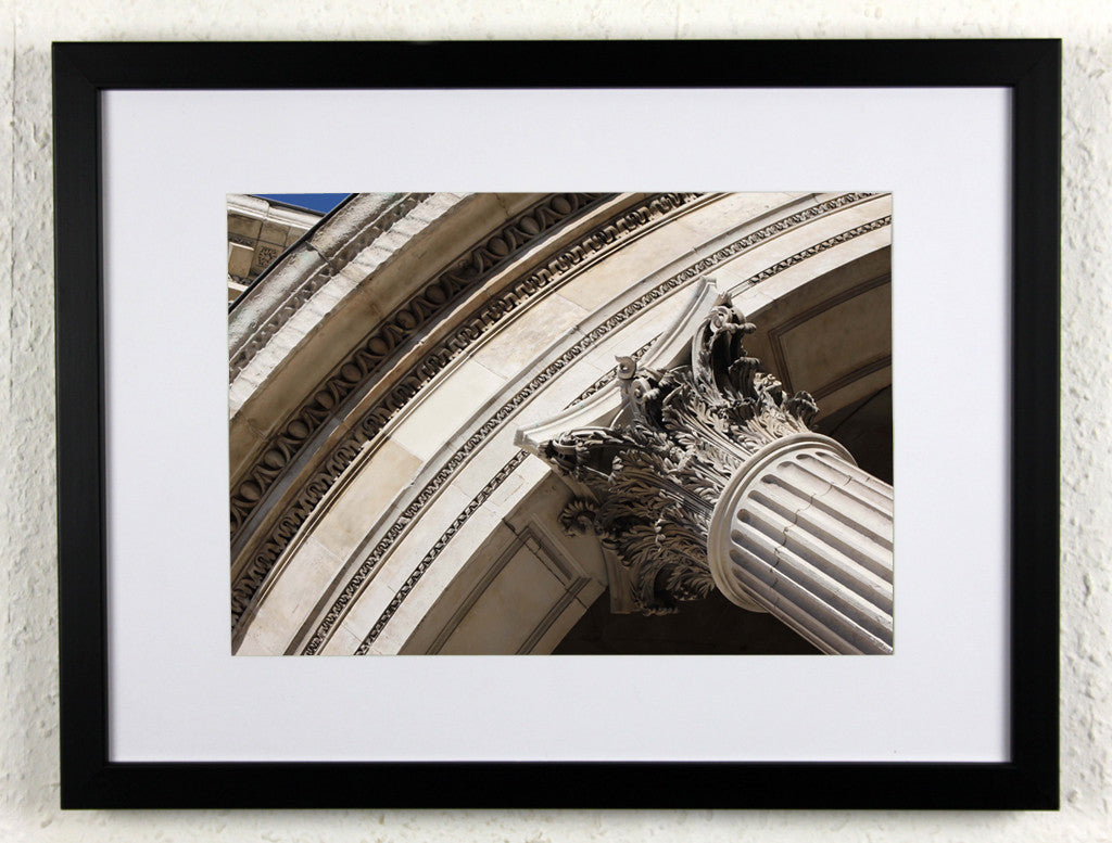 'Paul's Pillar' - Original London photography- St Paul's Cathedral, framed