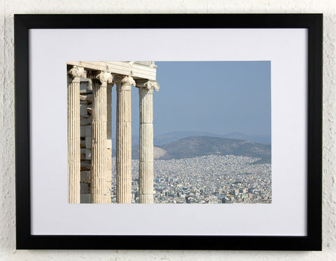 'Pillar View' - Original, artistic Athens photography, framed