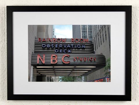 'Rainbow Room' - Original New York City photography, framed
