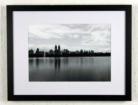 'Reservoir reflection 2' - Original New York City photography, framed