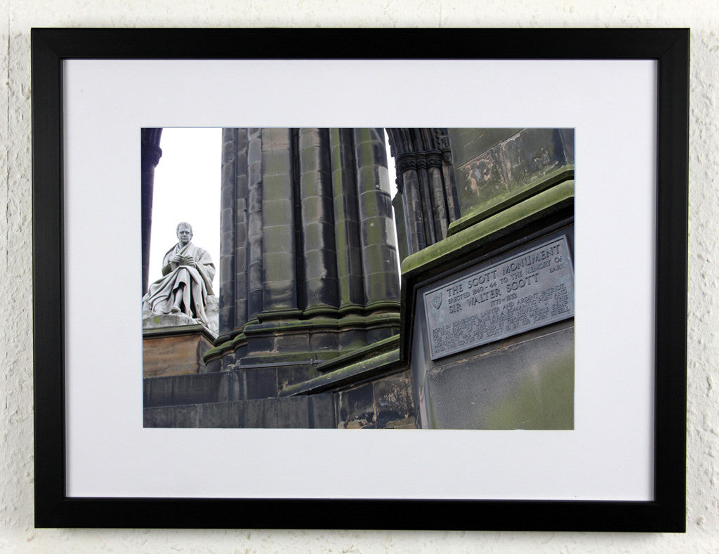 'Scott Plaque' - Original, artistic Edinburgh photography, framed